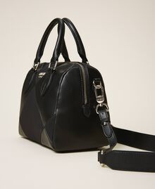 Bauletto-Tasche aus Lederimitat Kirsch Rot Frau 202MA7022-02