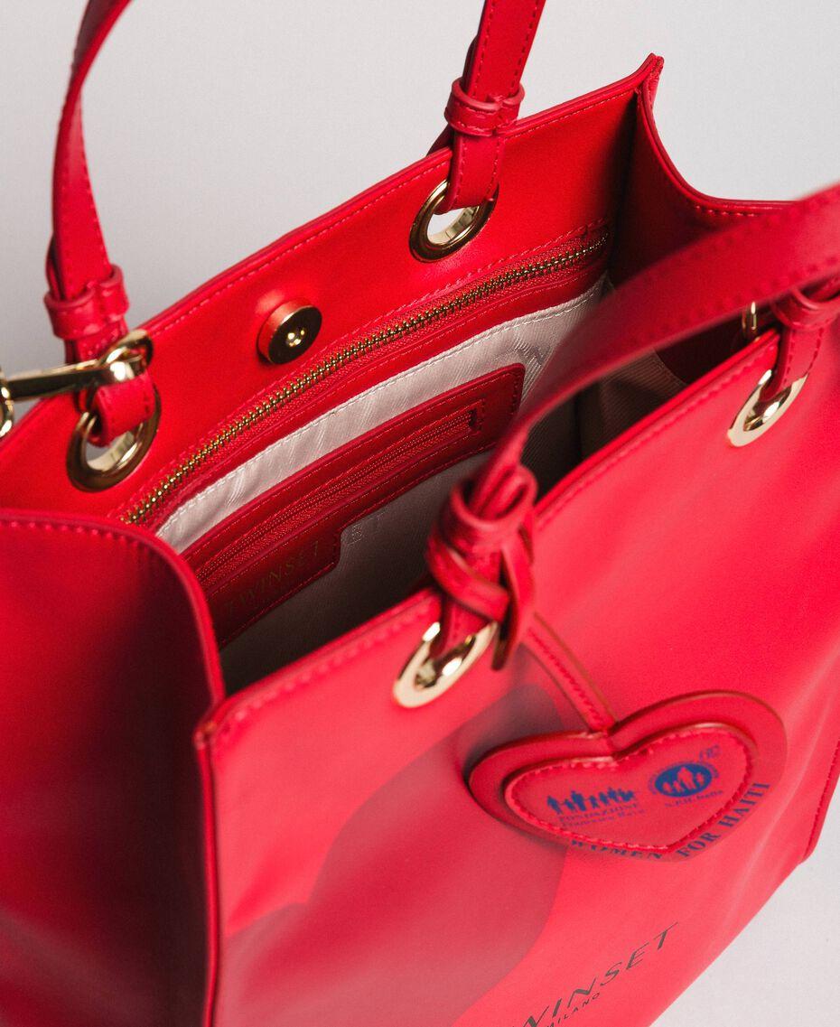 Mon Coeur Tote-Bag aus Lederimitat Rot Frau 191TQ701A-05