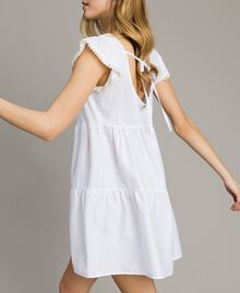 Robe en popeline Blanc Femme 191LB2JFF-02