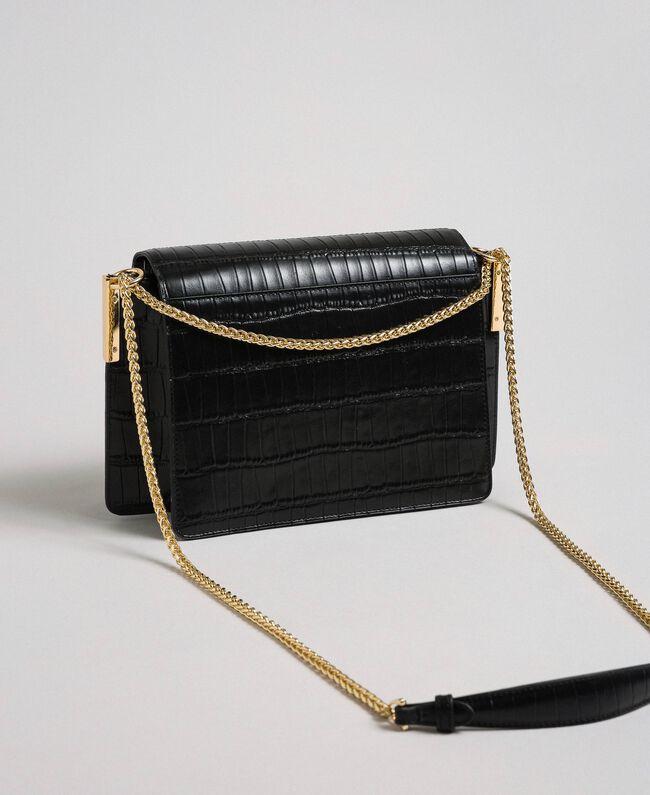 Large leather Bea shoulder bag Black Woman 192TO8040-04
