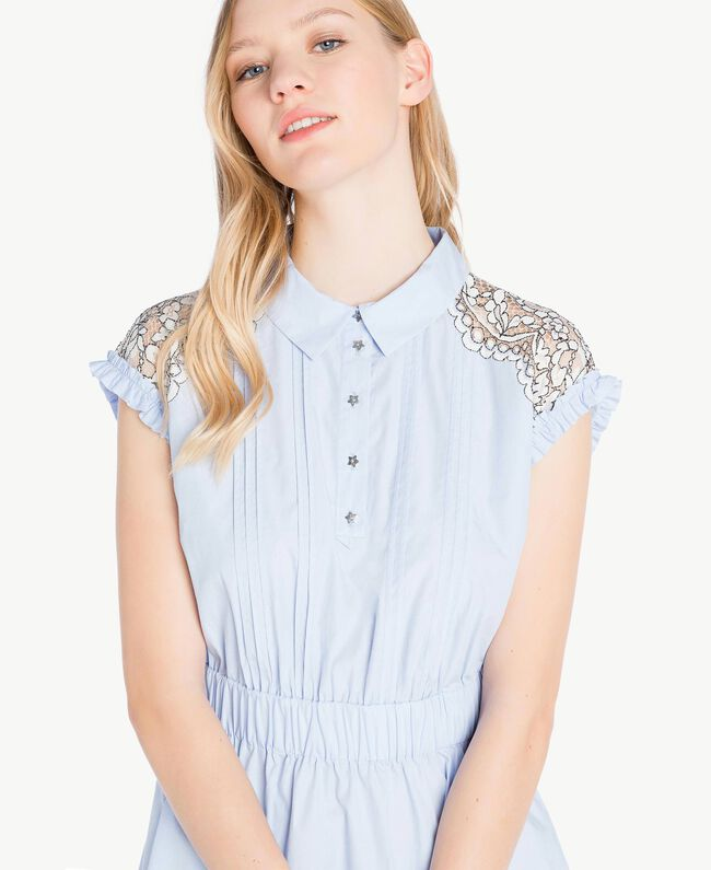 Robe dentelle Topaze Bleu Femme JS82D4-04