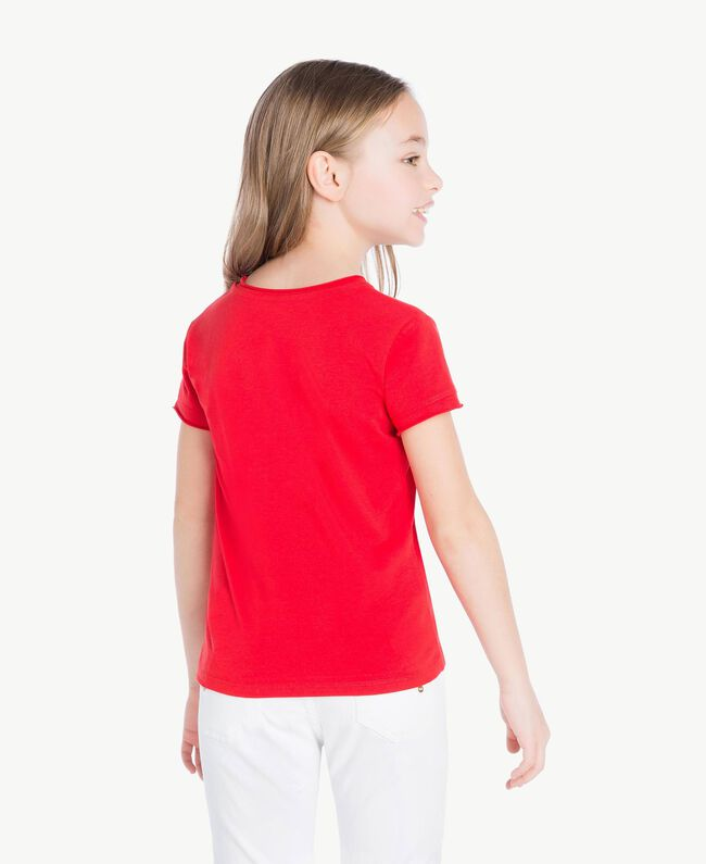 Jersey t-shirt Pomegranate Red Child GS82BA-04