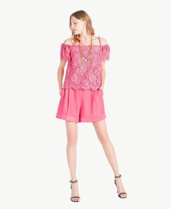 Oberteil aus Spitze Provocateur Pink Frau TS828S-05