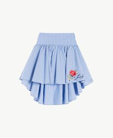 Poplin skirt Infinite Light Blue Jacquard Child GS82LQ-01