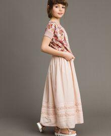 Cardigan-Pullover aus Lurex mit Blumenmuster Motiv Miniblumen Kind 191GJ3050-02