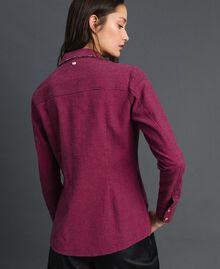 """Camicia in micro pied-de-poule Pied De Poule Rosa """"Pink Gloss"""" / Nero Donna 192MT2124-03"""