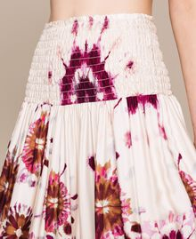 Robe-jupe en satin imprimé Imprimé Teint Flirty Rose Femme 201LB2GLL-03