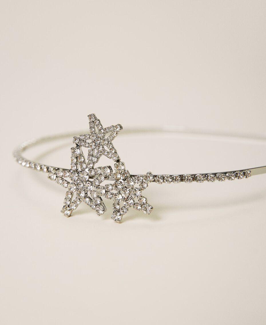 Headband with rhinestone stars Crystal Woman 202TA430G-02