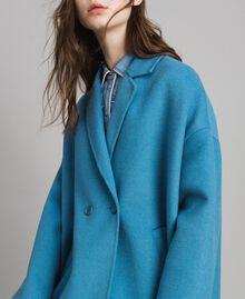 Caban en tissu de laine double Bleu Mykonos Clair Femme 191TP2481-05