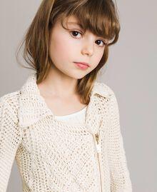 Blouson motard en maille crochet Chantilly Enfant 191GJ3QK0-04