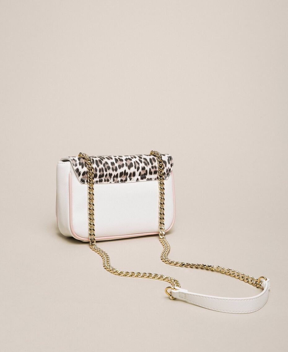 Faux leather shoulder bag with studs Black Woman 201MA7051-02