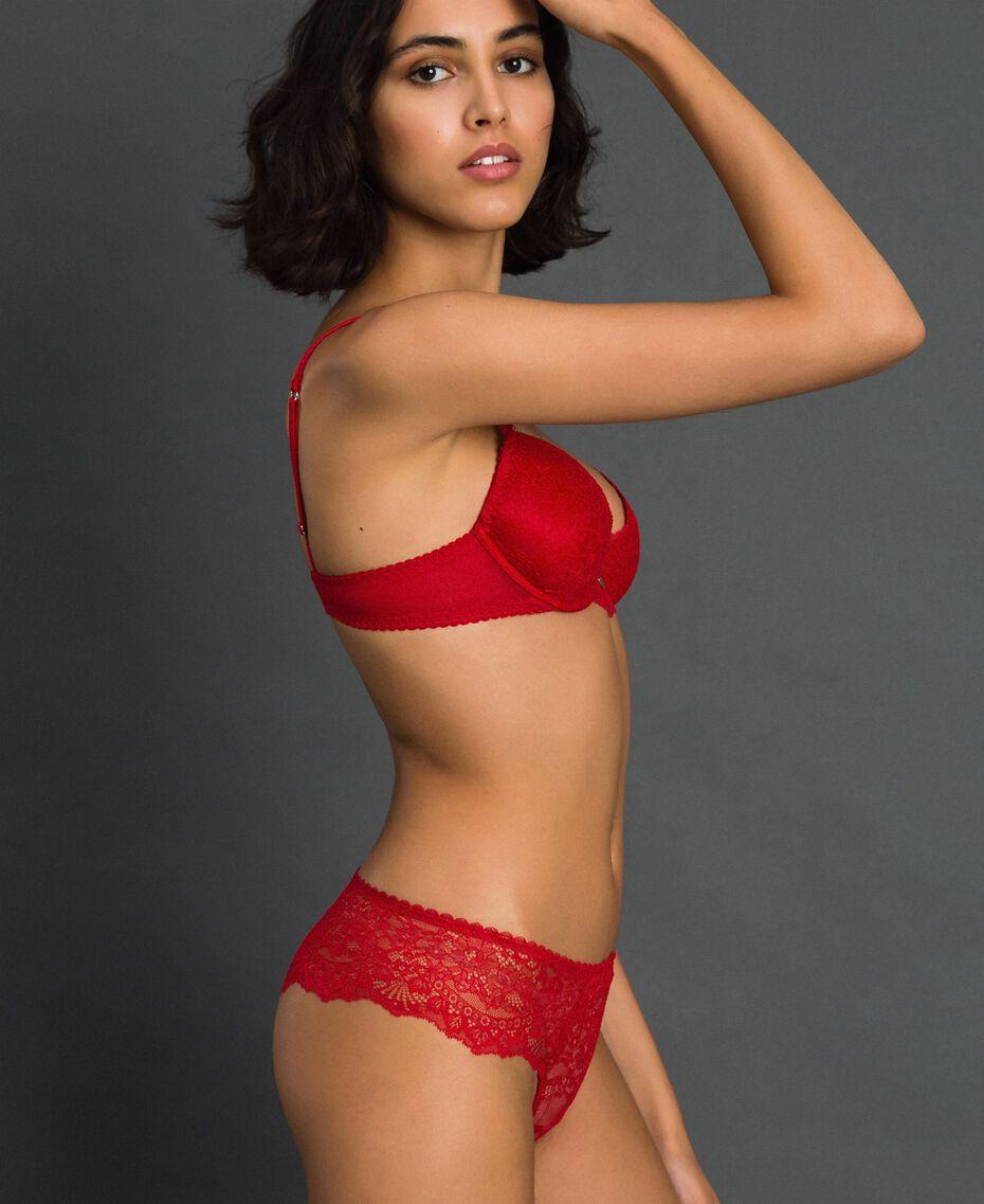 Culotte brésilienne en dentelle Rouge Ardent Femme 192LL6C77-01