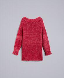 Maxi pull en mohair Rouge Coquelicot Mouliné Femme PA838A-0S