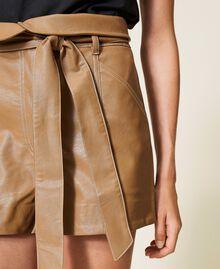 Shorts a vita alta con cintura Lampone Scuro Donna 212TP2510-05