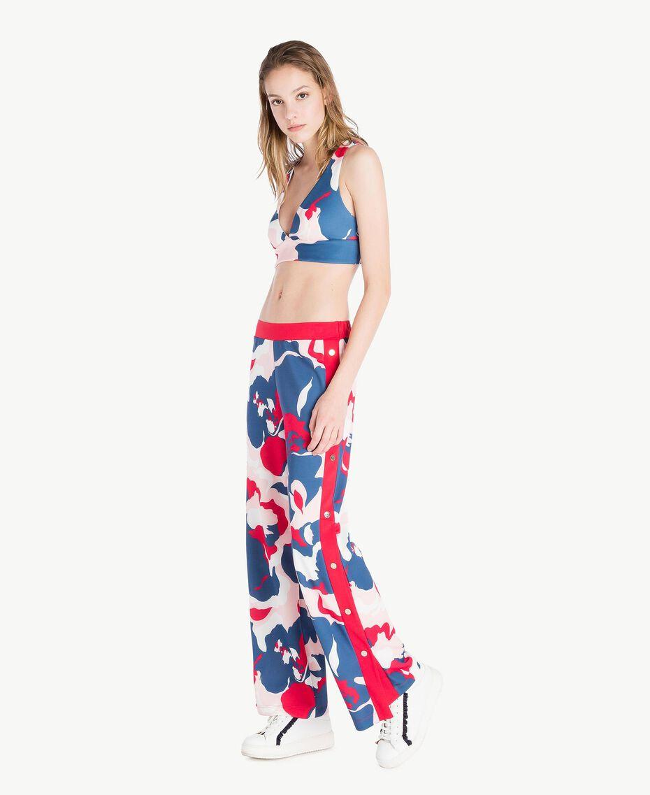 Pantalon imprimé Imprimé «Camouflower» Femme LS86LL-03