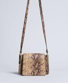 Sac à bandoulière en cuir animalier Imprimé Camel Serpent Femme AA8PG1-01