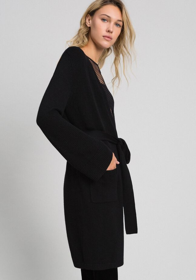 Cashmere blend maxi cardigan