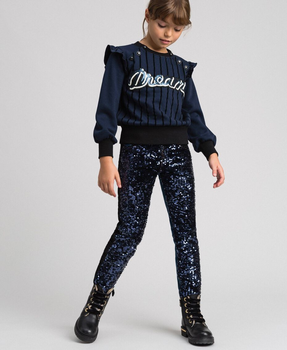 Skinny jeans with sequins Denim / Blue Night Sequins Child 192GJ2370-01