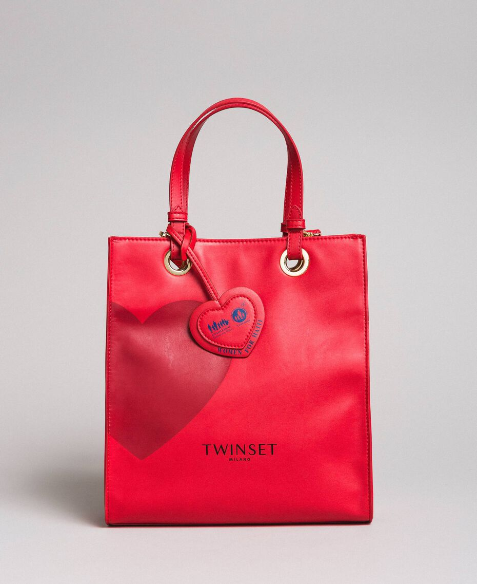Mon Coeur Tote-Bag aus Lederimitat Rot Frau 191TQ701A-02