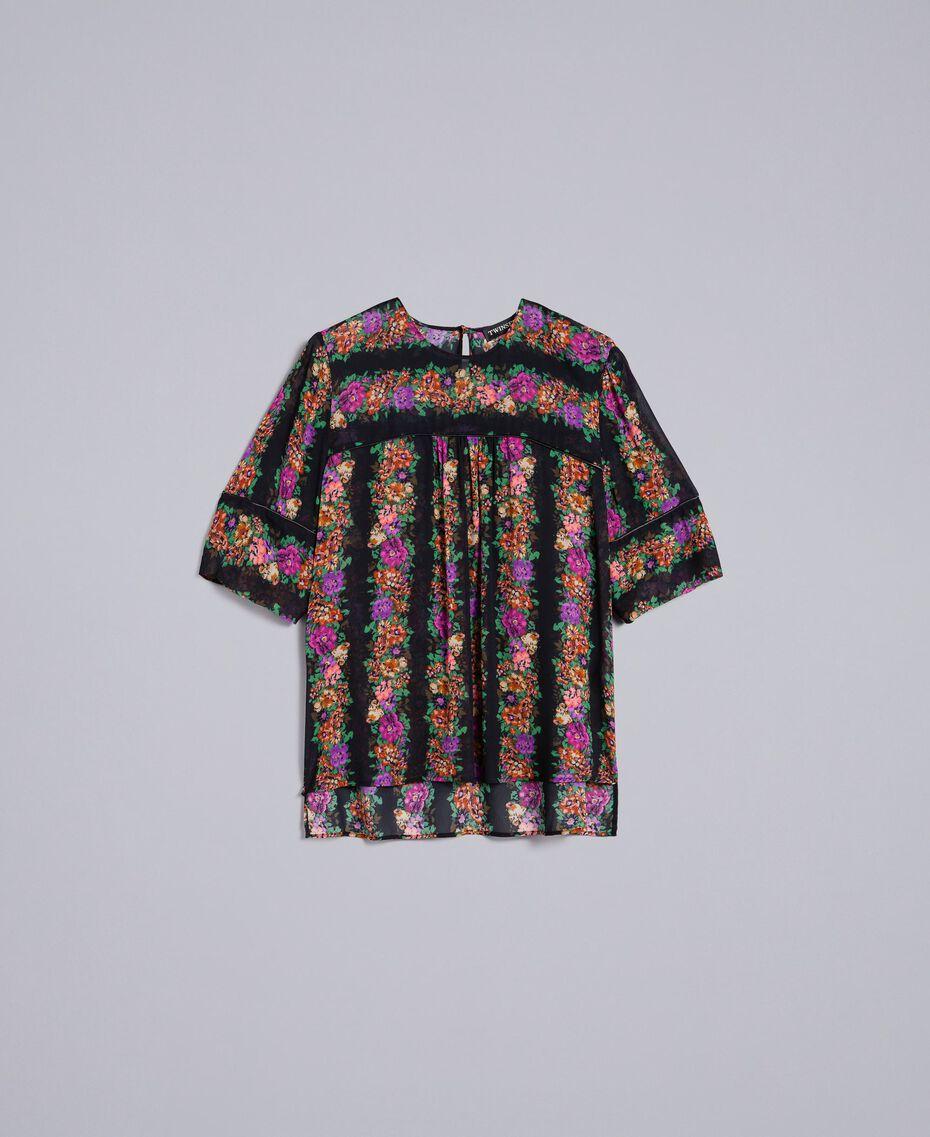 Blusa in georgette a stampa floreale Stampa Fiore Barre' Donna TA82X4-0S