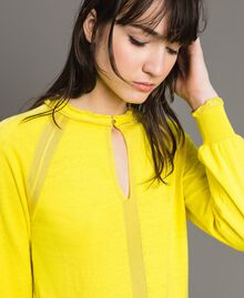 Cashmere mix top Yellow Woman 191TP3060-04