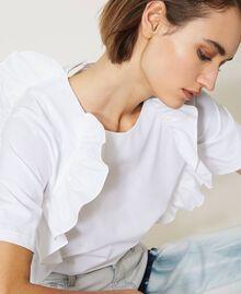 """Bluse """"Sabik"""" aus Popeline mit Rüschen Weiß Frau 211MT2413-05"""