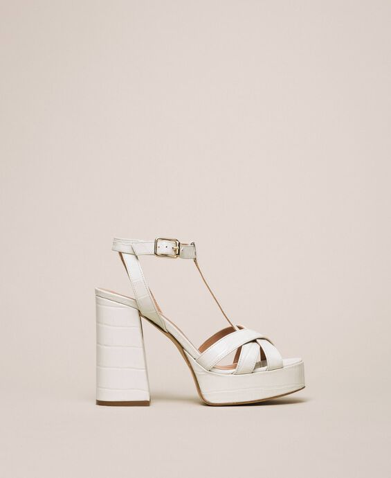 Leather T-bar sandals