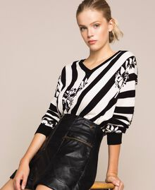Faux leather shorts with zip Black Woman 201TP241B-0T
