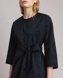 Taffeta duster coat Black Woman 191TP2655-04