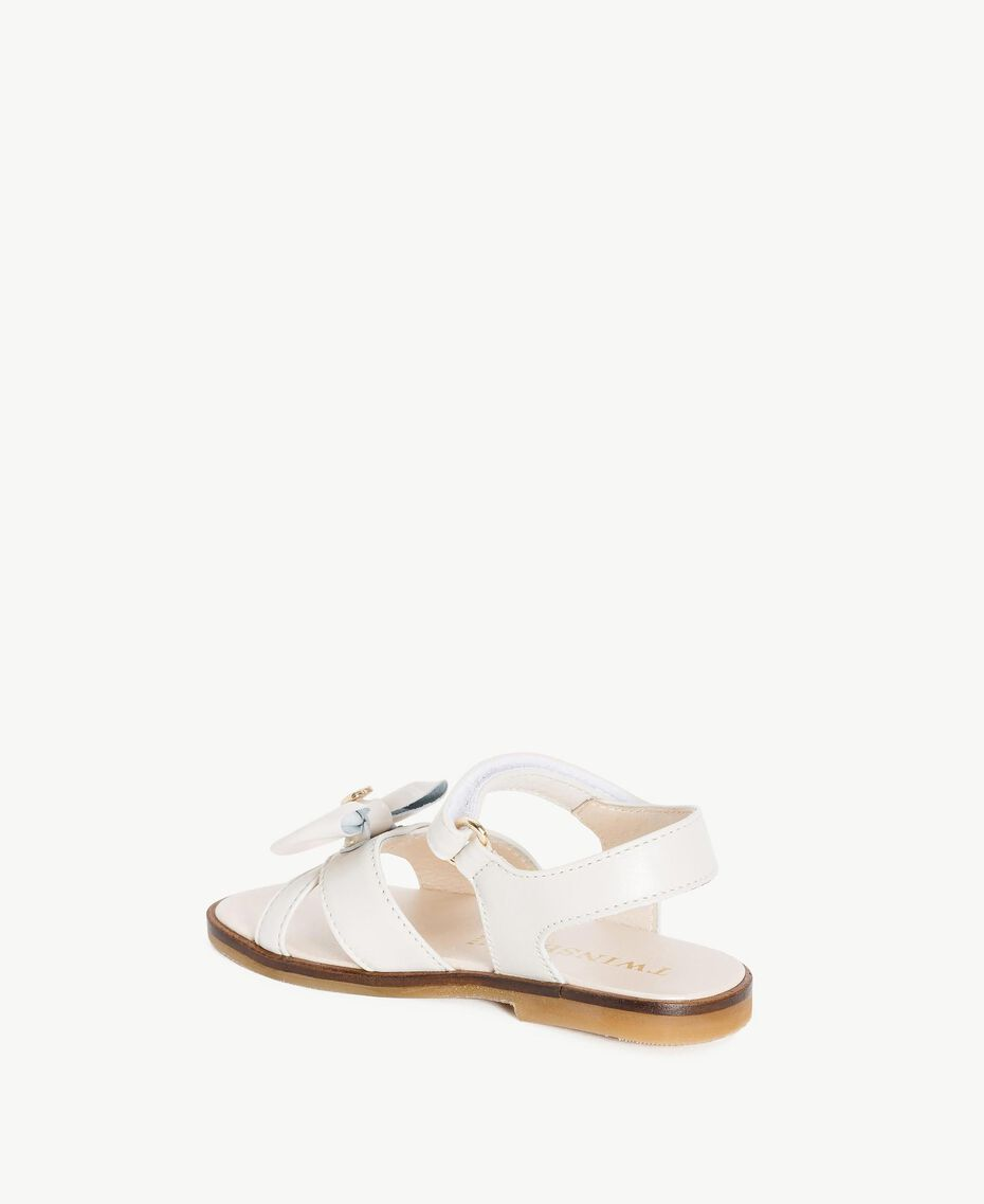 Bow sandals Pale Cream Child HS86CQ-03