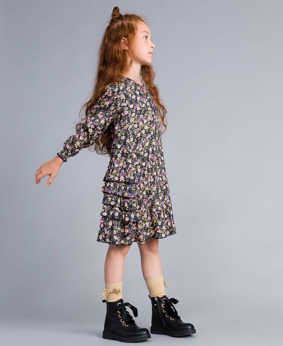 Robe en viscose imprimée Imprimé Petite Fleur Enfant GA82TC-02