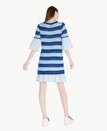 "Crochet dress Multicolour ""Navy Peony"" Blue / Placid Blue/ ""Rope"" Beige Woman SS83AB-03"