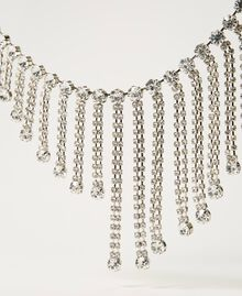 Collier avec franges strassées Cristal Femme 211TO5014-02