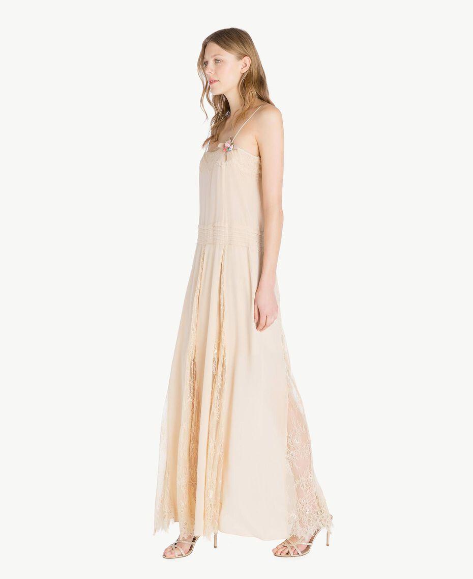 Silk dress Ecrù Woman PS82EA-02