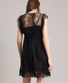 Chantilly lace dress with belt Black Woman 191ST2121-03