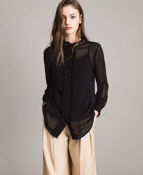 Georgette ruched shirt