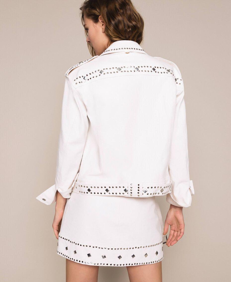 Perfecto clouté Blanc Antique White Femme 201TT2022-03