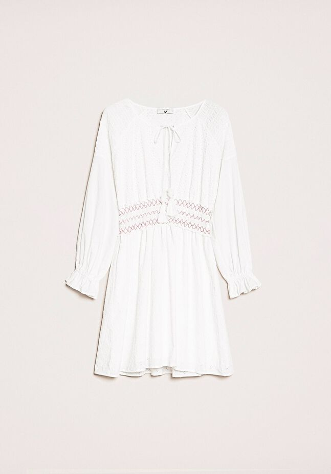 Broderie anglaise dress with embroidery