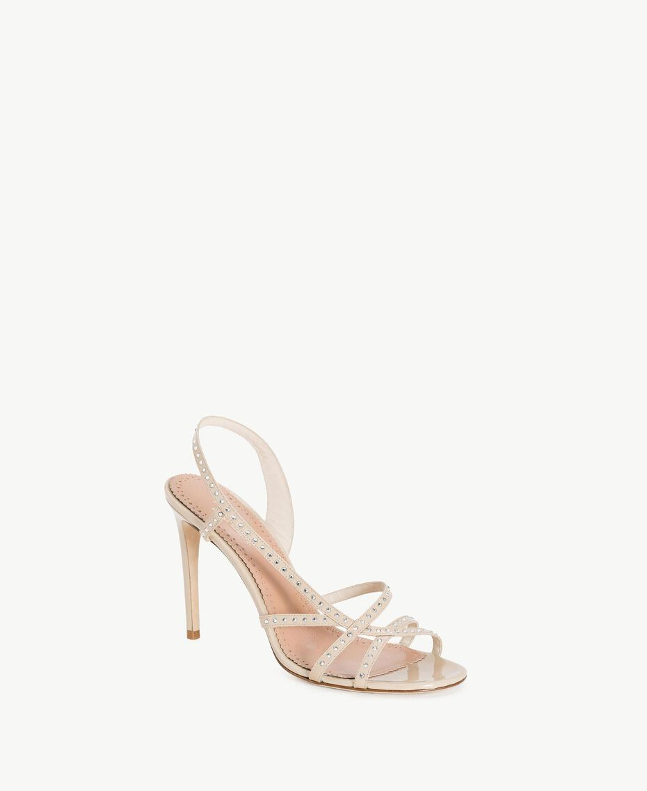 TWINSET Sandales strass Beige Nude Femme CS8TDQ-02