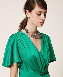 Halskette mit Blume und Perlchen Altmessing Frau 202TO5050-0S