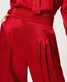 Pantalon en satin Noir Femme 202TP2144-04