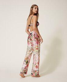 Pantalón de raso estampado Estampado Animal print Mujer 202LL2EFF-03