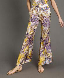 "Paisley print palazzo trousers ""Milkyway"" Beige / Paisley Print Woman 191LM2SAA-05"