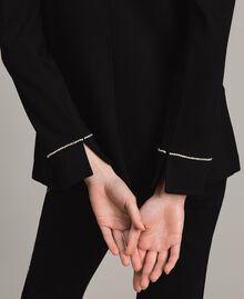 Rhinestone blazer Black Woman 191LB22JJ-06