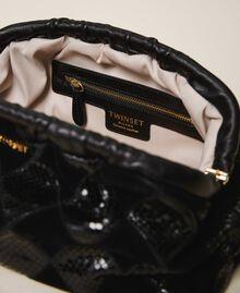 Diamond leather maxi pochette Two-tone Black / Black Diamonds Woman 202TD8033-05