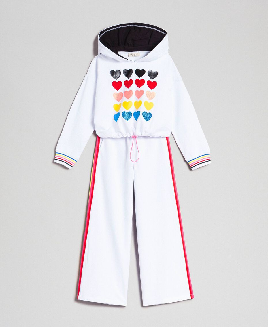 """Hoodie and trousers """"Papers"""" White Child 999GJ2013-0S"""