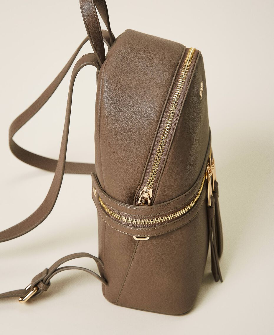 New Cécile backpack with all around zip Turtledove Woman 202TB7184-01