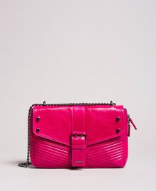 Rebel leather shoulder bag Fuxia Woman 191TO7233-02