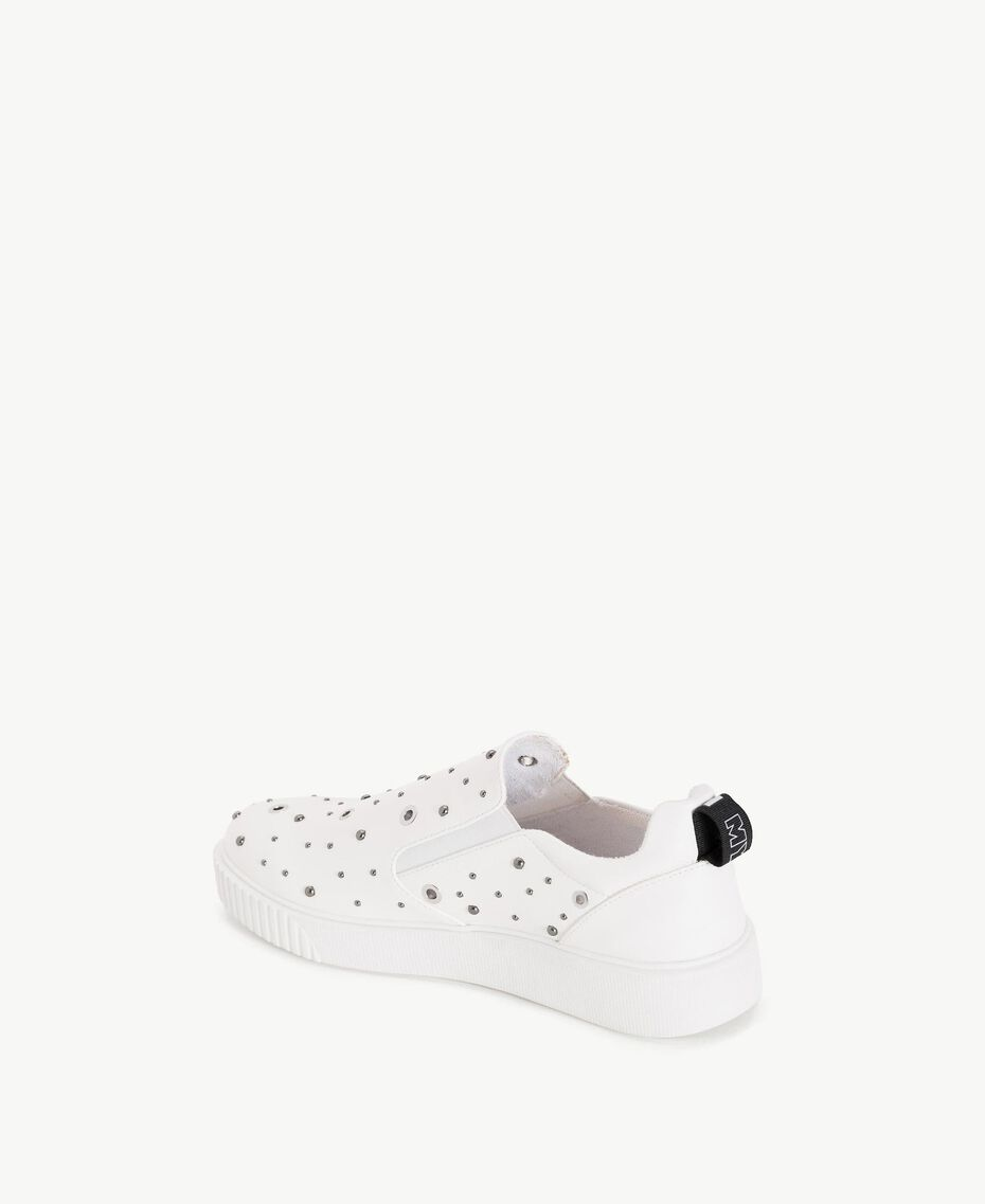 TWINSET Studded slip-on shoes White Woman DS8PBA-03
