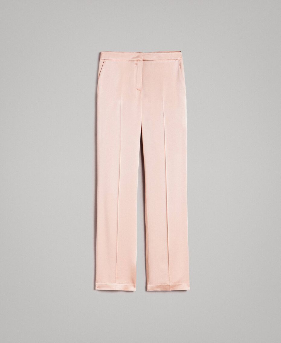 "Cady envers satin trousers ""Nude"" Beige Woman 191TP2691-0S"